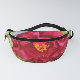 Red Wine Camellia Fanny Pack