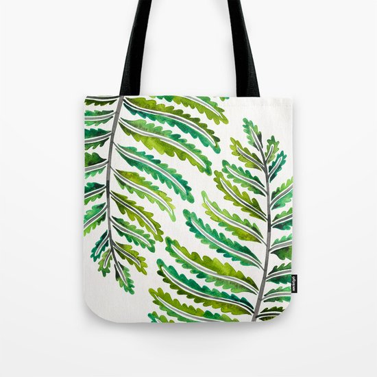 Fern Leaf – Green Palette Tote Bag