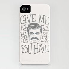 All The Bacon and Eggs iPhone (4, 4s) Slim Case