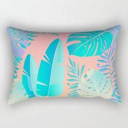 Tropics ( monstera and banana leaf pattern ) Rectangular Pillow