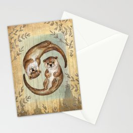 OTTERs over Praha Stationery Cards