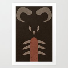 Houndoom Art Print