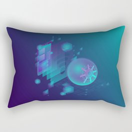 ABSTRACT SCIENCE TECHNOLOGY DESIGN Rectangular Pillow