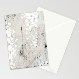 Grey and White Abstract with Black Texture: Scribble Series 02 Stationery Cards
