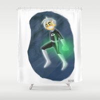 danny haas Shower Curtains featuring Danny Phantom by David Pavon