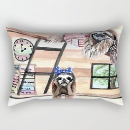 Peek into a treehouse Rectangular Pillow