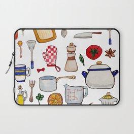 Watercolor Kitchen Utensils Laptop Sleeve
