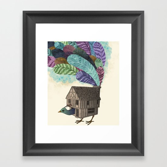 birdhouse revisited Framed Art Print