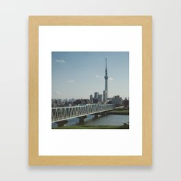 Tokyo Sky tree and Bridge Framed Art Print