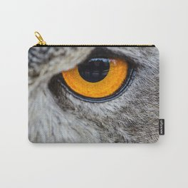 NIGHT OWL - EYE - CLOSE UP PHOTOGRAPHY - ANIMALS - NATURE Carry-All Pouch