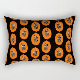 Papaya fruit tropical nature vacation pattern healthy foods vegan gifts Rectangular Pillow