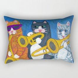 Salsa Cats Brass Section Rectangular Pillow