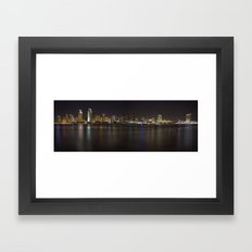 San Diego Skyline Framed Art Print