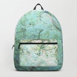 Watercolor Human Impact, Trash 17, Bottle Backpack