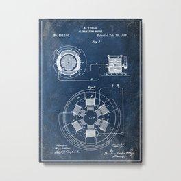 1896 alternative motor patent Metal Print