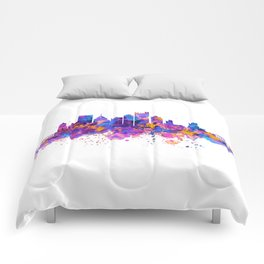 Pittsburgh Skyline Comforters