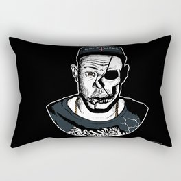 Golf Wang - Tyler The Creator Skull Ink Print Rectangular Pillow