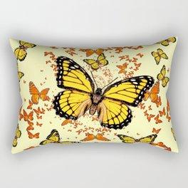 YELLOW & ORANGE MONARCH BUTTERFLIES DANCE Rectangular Pillow