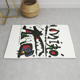 Joan Miro - Eaux Fortes 1983 - Artwork for Wall Art, Prints, Posters, Tshirts, Men, Women, Youth Rug