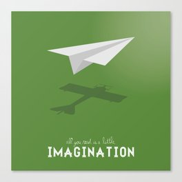 Never Forget to Play - Paper Plane Canvas Print