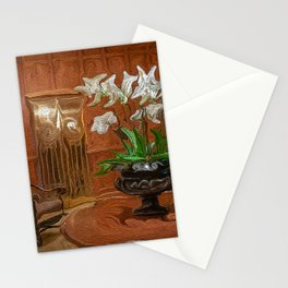 Flowers in Hotel Lobby Stationery Cards