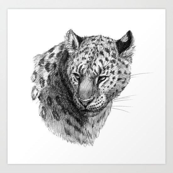 Leopard SK0101 Art Print