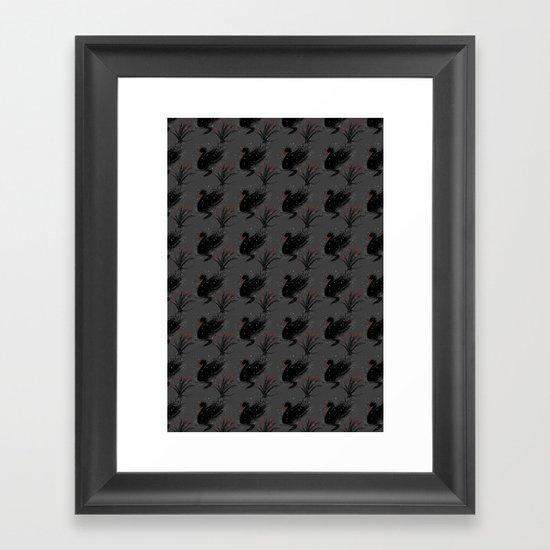Winter Black Swan Framed Art Print