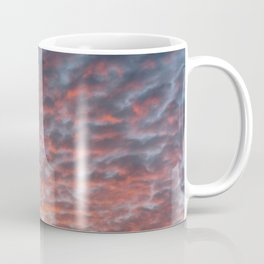 Pink sky sunset || Pastel colors skyscape abstract pattern clouds photo || travel photography digital art print Coffee Mug