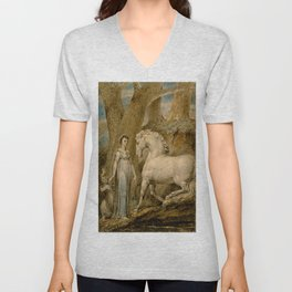 "William Blake ""The Horse"" Unisex V-Neck"