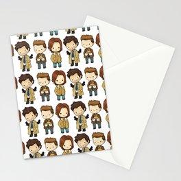 Chibi Dean Sam Castiel Supernatural Stationery Cards