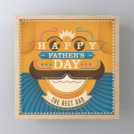 Happy Father's Day Framed Mini Art Print