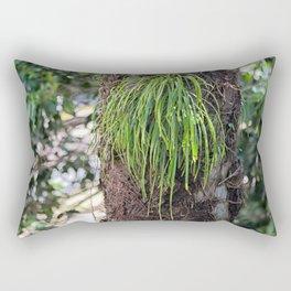 Epiphyte growth on tree in rainforest Rectangular Pillow