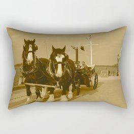 Draft Horses and Carriage Rectangular Pillow