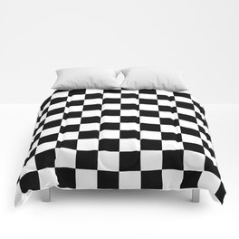 Checkered (Black & White Pattern) Comforters