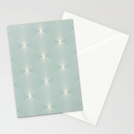 Geometric Orb Pattern IX Stationery Cards
