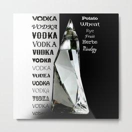 Bottle of Vodka Metal Print