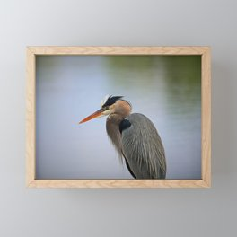 Heron in the Slough II Framed Mini Art Print