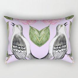 Mockingbird and camellia watercolor painting To Kill a Mockingbird Rectangular Pillow