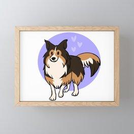 Dark Sable Shetland Sheepdog Framed Mini Art Print