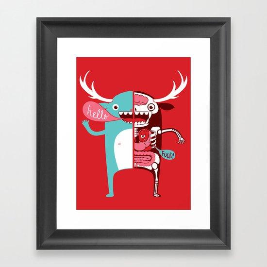 All monsters are the same! Framed Art Print