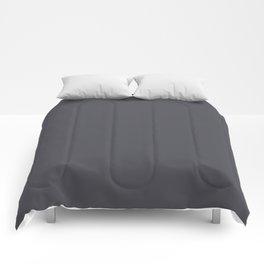Solid dark grey. Comforters