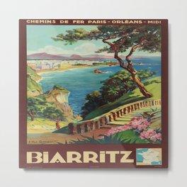 Vintage poster - Biarritz, France Metal Print