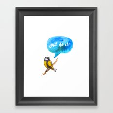 Just Do It - Motivational Bird Framed Art Print