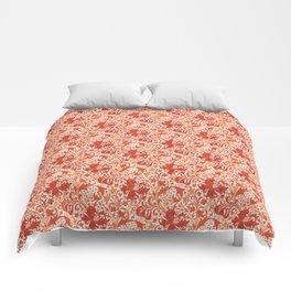 William Morris Iris and Lily, Mandarin Orange Comforters