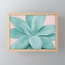 Blush Agave Romance #1 #tropical #decor #art #society6 Framed Mini Art Print