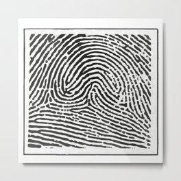 Fingerprint 2 Metal Print