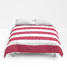 Dingy Dungeon - solid color - white stripes pattern Comforters