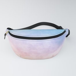 Pastel Rainbow Watercolor Clouds Fanny Pack