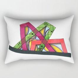 Synagogue Serendipity Geometric Architecture 76 Rectangular Pillow