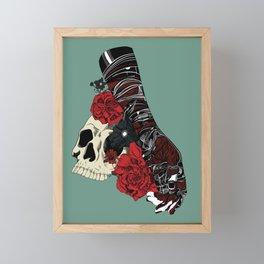 Grief on fingertips Framed Mini Art Print